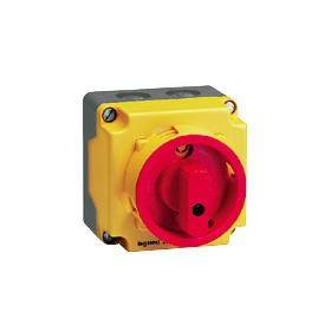 Coffret de proximité 12A IK08 3P+N pour coupure ou sectionnement d'un moteur 1 vitesse LEGRAND