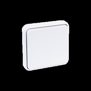 Mécanisme bouton poussoir 10 A - Blanc EUR'OHM