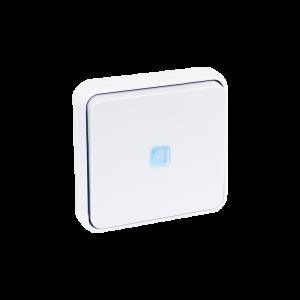 Mécanisme bouton poussoir lumineux 10 A - Blanc EUR'OHM