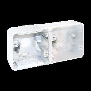 Boite 2 postes - horizontal - Blanc EUR'OHM