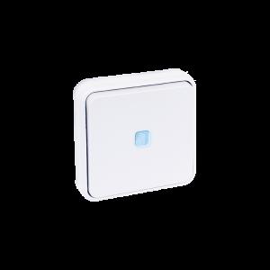 Bouton poussoir lumineux encastré 10A - Blanc EUR'OHM