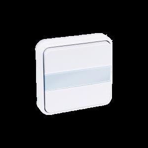Bouton poussoir avec porte étiquette lumineux encastré 10A - Blanc EUR'OHM