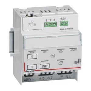 Télécommande modulaire multifonctions SATI connecté non polarisée IP pour bloc d'éclairage et alarme incendie LEGRAND