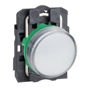 Voyant lumineux LED Ø22 - blanc - 24V - vis étrier SCHNEIDER