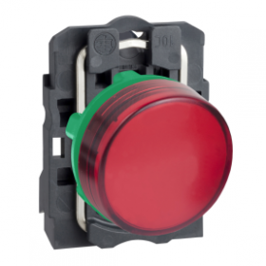 Voyant lumineux LED Ø22 - rouge - 24V - vis étrier SCHNEIDER