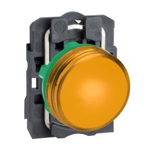 Voyant lumineux LED Ø22 - orange - 24V - vis étrier SCHNEIDER