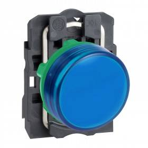 Voyant lumineux LED Ø22 - bleu - 24V - vis étrier SCHNEIDER