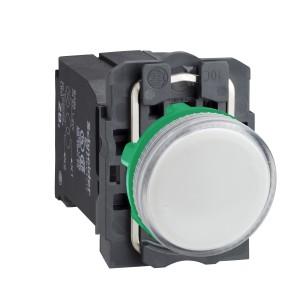 Voyant lumineux BA9s - Ø22 - blanc - 230V - vis étrier SCHNEIDER