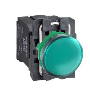 Voyant lumineux BA9s - Ø22 - vert - 230V - vis étrier SCHNEIDER