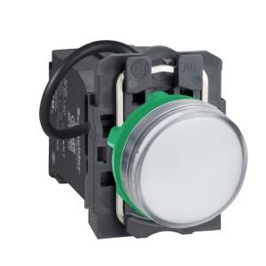 Voyant lumineux LED Ø22 - blanc - alim. transfo. 400V - vis étrier SCHNEIDER