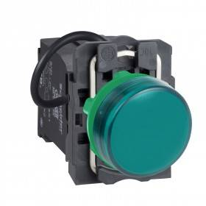 Voyant lumineux LED Ø22 - vert - alim. transfo. 400V - vis étrier SCHNEIDER