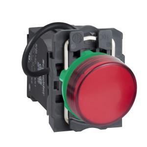Voyant lumineux LED Ø22 - rouge - alim. transfo. 400V - vis étrier SCHNEIDER