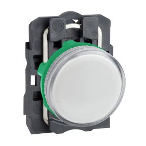Voyant lumineux BA9s - Ø22 - blanc - direct 250V max - vis étrier SCHNEIDER