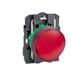 Voyant lumineux BA9s - Ø22 - rouge - direct 250V max - vis étrier SCHNEIDER