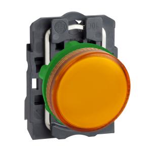 Voyant lumineux BA9s - Ø22 - orange - direct 250V max - vis étrier SCHNEIDER
