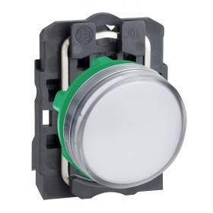 Voyant lumineux LED - Ø22 - blanc - 120V - vis étrier SCHNEIDER