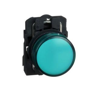 Voyant lumineux LED - Ø22 - vert - 120V - vis étrier SCHNEIDER