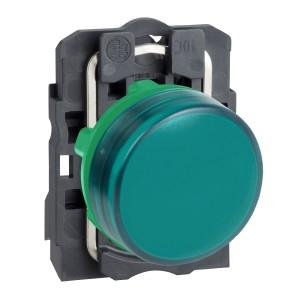 Voyant lumineux LED Ø22 - vert - 230V - vis étrier SCHNEIDER