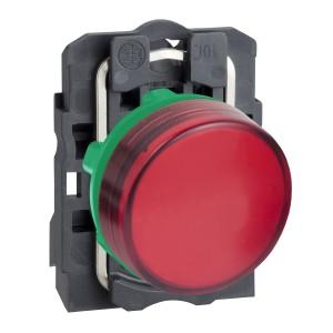 Voyant lumineux LED Ø22 - rouge - 230V - vis étrier SCHNEIDER