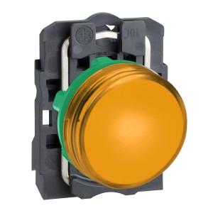 Voyant lumineux LED Ø22 - orange - 230V - vis étrier SCHNEIDER