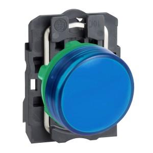 Voyant lumineux LED Ø22 - bleu - 230V - vis étrier SCHNEIDER