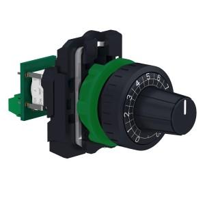 Potentiomètre complet Ø22 - 100kΩ - raccordement sur bornier SCHNEIDER