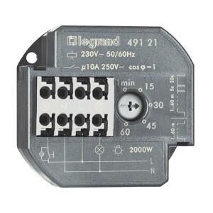Télérupteur unipolaire 10AX 230V~ 50Hz à 60Hz avec minuterie intensité maximum 50mA LEGRAND