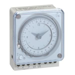 Inter horaire programmable analogique 72x72mm à programme hebdomadaire - connexion à vis LEGRAND