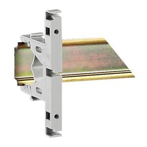 Support isolant pour écrans protège-bornes enclipsage sur rail symétrique LEGRAND