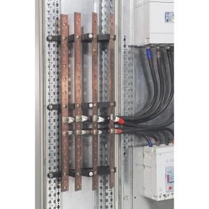 Support isolant 1 barre cuivre 18x4mm, 25x4mm, 25x5mm et 32x5mm par pôle jusqu'à 400A - pour Altis, XL³400 et XL³ 800 LEGRAND