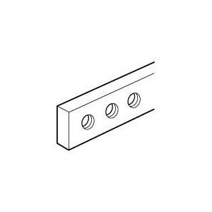 Barre cuivre à trous taraudés 12x2mm - 110A admissibles - long. 990mm LEGRAND