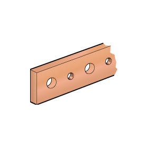 Barre cuivre plate rigide à trous taraudés section 25x5mm - 330A ou 270A admissibles - long. 1750mm LEGRAND