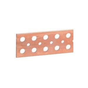 Barre cuivre plate rigide à trous lisses section 63x5mm - 800A ou 700A admissibles - long. 1750mm LEGRAND