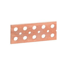Barre cuivre plate rigide à trous lisses section 75x5mm - 950A ou 850A admissibles - long. 1750mm LEGRAND