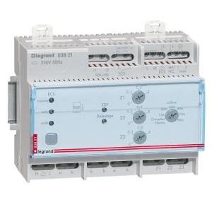 Gestionnaire modulaire pour chauffage électrique fil pilote pour 3 zones - 6 modules LEGRAND