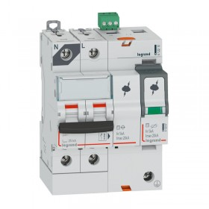 Parafoudre avec protection de court-circuit intégrée typeT2 Imax 20kA - 1P+N 320V~ - 4 modules LEGRAND
