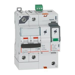 Parafoudre avec protection de court-circuit intégrée typeT2 Imax 40kA - 1P+N 320V~ - 4 modules LEGRAND