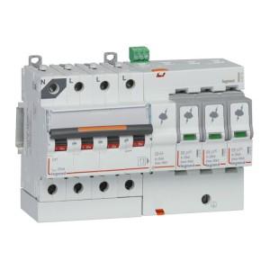 Parafoudre avec protection de court-circuit intégrée typeT2 Imax 40kA - 3P+N 320V~ - 8 modules LEGRAND
