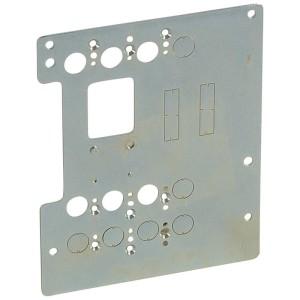 Platine de montage pour 1 DPX³160 fixe en inverseur de sources en position verticale dans XL³4000 LEGRAND