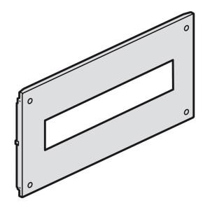 Plastron métal à vis pour appareils modulaires dans XL³4000 ou XL³800 - haut. 150mm - 24 modules LEGRAND