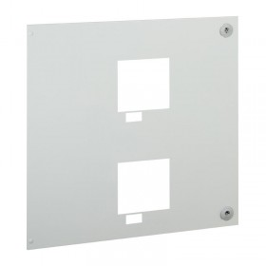 Plastron métal pour inverseurs de sources à vis 2 DPX³630 débrochables horizontales et commande motorisée XL³4000 LEGRAND