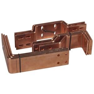 Barres cuivre pliées et percées pour raccordement aval DMX³ inverseur version fixe 2500A ou 3200A sur jeu de barres alu LEGRAND