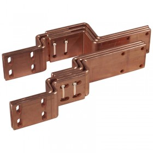 Barres cuivre pliées et percées pour raccordement aval DMX³ version débrochable 2500A ou 3200A sur jeu de barres alu LEGRAND