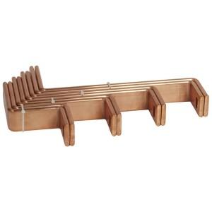 Barres cuivre pliées et percées pour raccordement aval DPX³1600 débrochable sur jeu de barres alu dans XL³4000 725mm LEGRAND