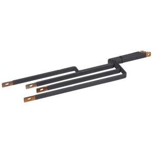 Barres cuivres rigides pour raccordement d'un DPX³250 horizontal sur un jeu de barres alu 800A VX³ en gaine à câbles LEGRAND