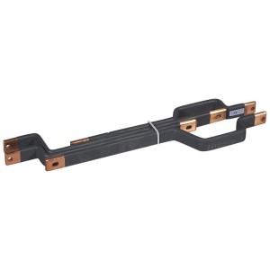 Barres cuivres rigides pour raccordement d'un DPX³630 horizontal sur un jeu de barres alu 800A VX³ en gaine à câbles LEGRAND