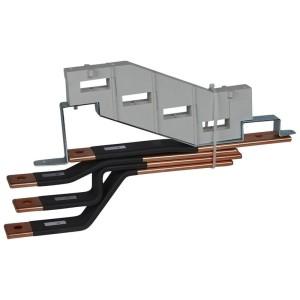 Barres cuivres rigides pour raccordement amont du DPX³1600 horizontal sur jeu de barres alu 800A VX³ LEGRAND