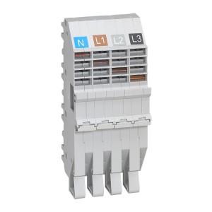 Base support plug-in HX³ pour répartition horizontale en armoire XL³ des DX³ tétrapolaire 1 module par pôle LEGRAND