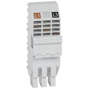 Base support plug-in HX³ pour répartition horizontale en armoire XL³ des DX³ tripolaire 1 module par pôle LEGRAND