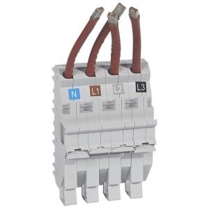 Base support à fils HX³ pour répartition horizontale en armoire XL³ des DX³ tétrapolaire 1,5 module par pôle LEGRAND